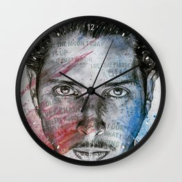 Pretty Noose: Red & Blue Wall Clock