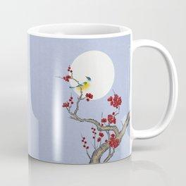 Plum blossoms, bird and the moon Type F (Minhwa: Korean traditional/folk art) Coffee Mug