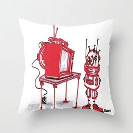 transmitting Throw Pillow