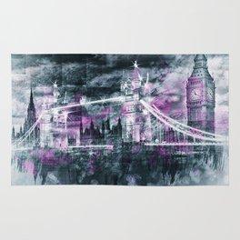 Modern-Art LONDON Tower Bridge & Big Ben Composing Rug