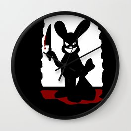 Bloody Bunny Wall Clock