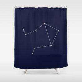 Libra Star Sign Deep Blue Shower Curtain
