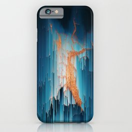 Glitch in the Dark - Abstract Pixel Art iPhone Case