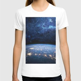 Earth and Galaxy T-shirt