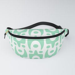 Mid Century Modern Abstract Pattern 642 Mint Green Fanny Pack