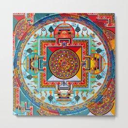 Buddhist Medicine Mandala 2 Metal Print