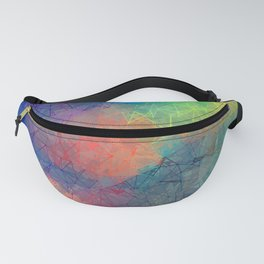 Reflecting Multi Colorful Abstract Prisms Design Fanny Pack