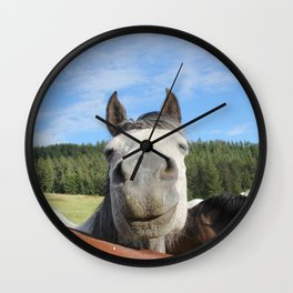 Horse Smile Photography Print Wall Clock
