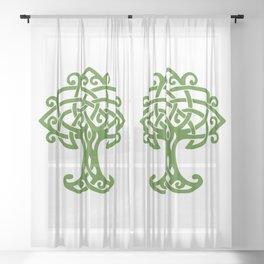 Tree Of Life Celtic Art Knot Sheer Curtain