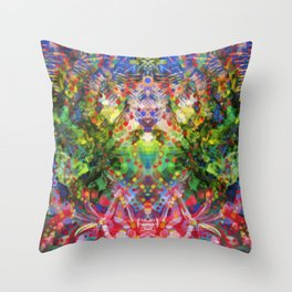 Floral Diving Throw Pillow