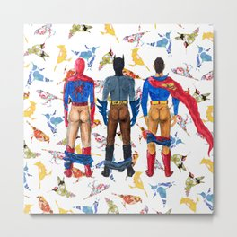 Super Hero BUTTs | It's a bird, it's a plane, it's... a booty Metal Print