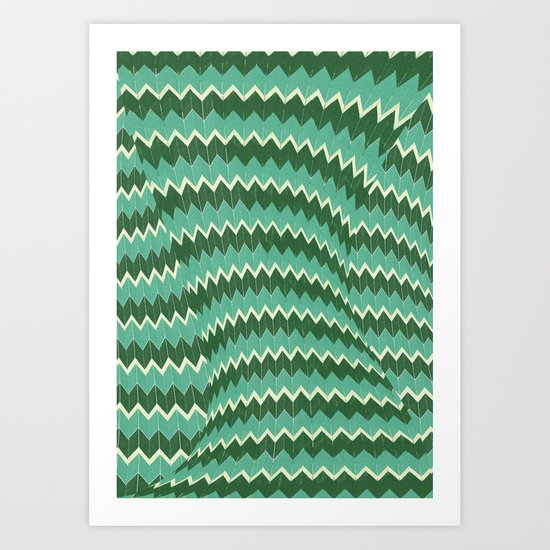 kiss your zig zag Art Print
