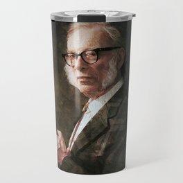 Isaac Asimov - Painting  Travel Mug