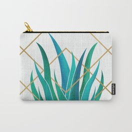 Modern Succulent - metallic accents Carry-All Pouch