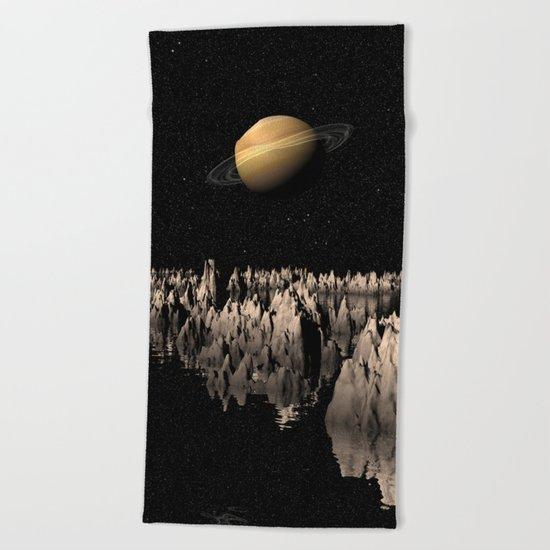 Planet Saturn Beach Towel