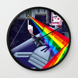 Dark Moon Warrior Wall Clock