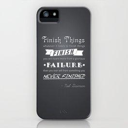 Finish Things - Neil Gaiman iPhone Case
