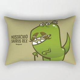 Mustachio Saurus Rex Rectangular Pillow