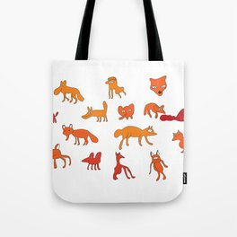 Weird Foxes Tote Bag