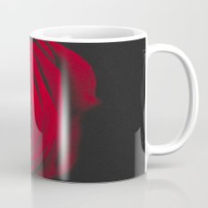 Red rose on black background vintage effect Mug