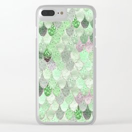 SUMMER MERMAID - GREEN & PINK Clear iPhone Case
