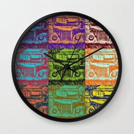 Jeeps, Pop Art, Modern Art, Fun Gift Idea Wall Clock
