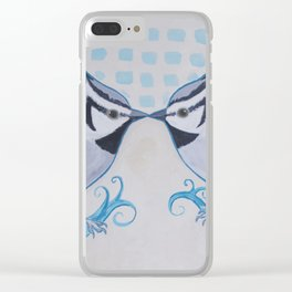 Kissing Titmice Clear iPhone Case