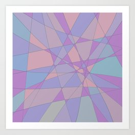 Shattered Purple & Pink Art Print