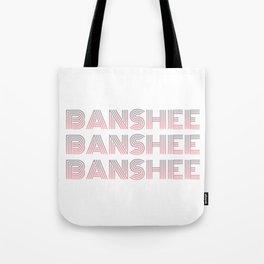 Banshee x3 - Gray/Pink Ombre Tote Bag