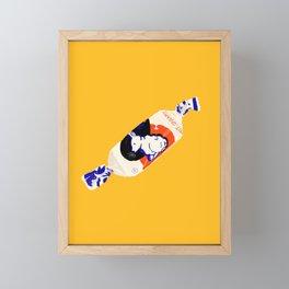 White Rabbit Candy Framed Mini Art Print