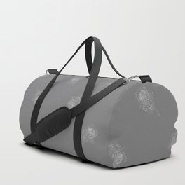 King Protea Outline - Grey and White Duffle Bag
