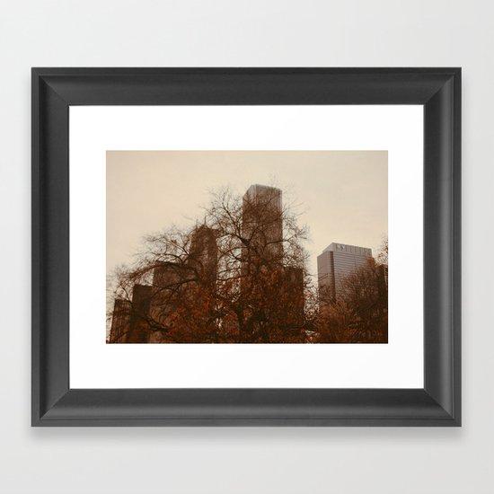 Autumn in Chicago Framed Art Print