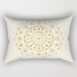 Sunny—Rusty Gold Dot Mandala  Rectangular Pillow