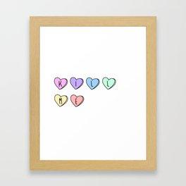 Kill Me Candy Hearts Framed Art Print