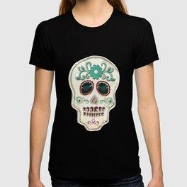 Fringy Flower Skull T-shirt