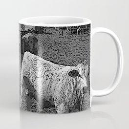 Black & White California Catte Yard Pencil Drawing Photo Coffee Mug