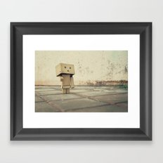 Danbo on the street Framed Art Print