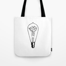"Ode to the Bulb - ""keep your lamp"" Tote Bag"