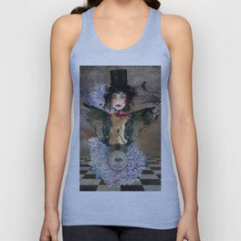 Lady in a Black Hat Unisex Tank Top