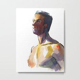 BRYAN, Semi-Nude Male by Frank-Joseph Metal Print