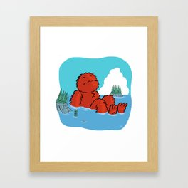 Casco Bay Basking Framed Art Print