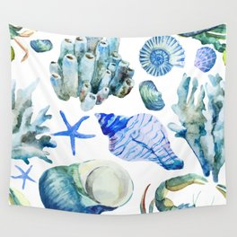 Sea Life Pattern 05 Wall Tapestry