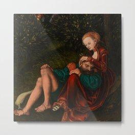 "Lucas Cranach the Elder ""Samson and Delilah"" Metal Print"