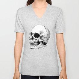 Dire Skull - A Macabre Warning Unisex V-Neck