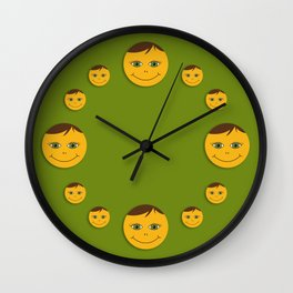 Kind smile. Green Wall Clock