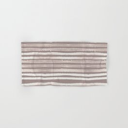 Simply Shibori Stripes Lunar Gray and Red Earth Hand & Bath Towel