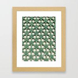 A royal pattern Framed Art Print