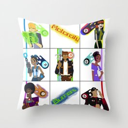 Burners Together Throw Pillow