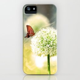 Allium fantasy flowers with butterfly iPhone Case