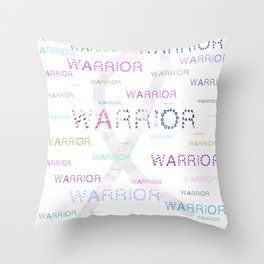 Warrior, Cancer Warriors Throw Pillow